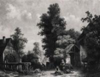 sommertag am rande einer holländischen kleinstadt by h. van hagendoren