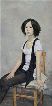 少女肖像 (the portrait of girl) by jia lizhu