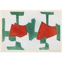 komposition in blau, grün und rot by serge poliakoff