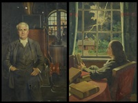 ben franklin; thomas edison (2 works) by george r. havelka