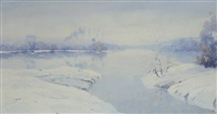 vinterlandskab by axel lind