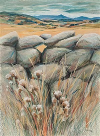 dyke, thistles and bennachie by eric auld