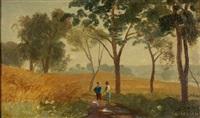 landschaft mit kornfeld by adolf (johann) staebli
