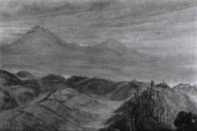 in blaues licht getauchte berglandschaft by ernst vollbach vollbehr