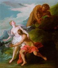 mythologische szene by françois (le moine) le moyne