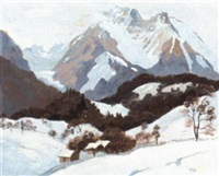 winter mountain landscape by joan anacker