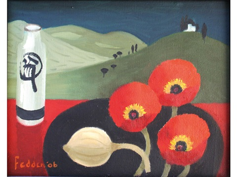 three red poppies by mary fedden