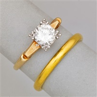 wedding ring set (2 works) by tiffany & company