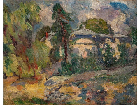 a house amidst trees by louis valtat