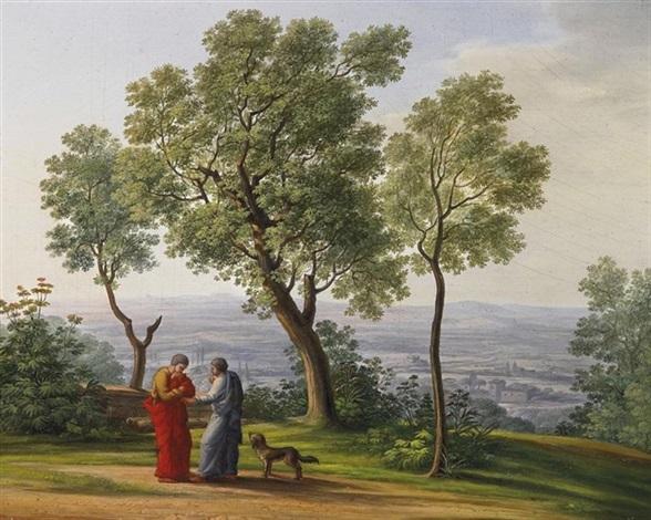 landschaft bei tivoli by carl ludwig kuhbeil