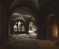klosterhalle im schnee by carl georg adolph hasenpflug