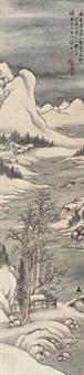 溪山雪霁图 by tang yifen