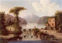 alpelandskab med soer og dæmning by van remo
