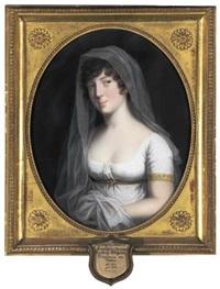 portrait of duchess marie, princess of baden, wife of duke friedrich wilhelm (herzogin marie, prinzessin von baden, frau von herzog friedrich wilhelm) by johann heinrich schröder