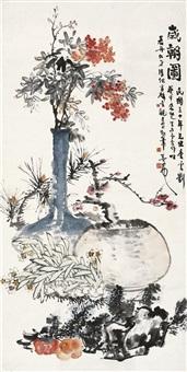 岁朝图 (flowers) by tang yun, lai chusheng, jiang danshu and liu kuizhong