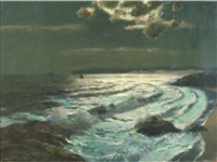 moonlit surf by julius olsson