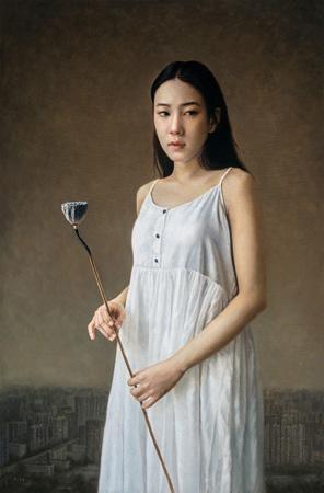 莲 by zhang dali