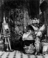 im atelier des malerfürsten by eduard caspar post
