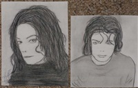 self-portraits (2 works) by michael jackson