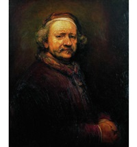 临伦勃朗自画像 (copy study of self-portrait of rembrandt) by liu kongxi