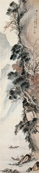 山水 (landscape painting) by deng fen