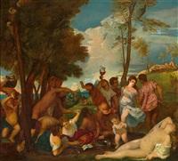 bacchanal (after titian) by wilhelm auberlen