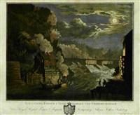 schaaning fossen i tisde dahlen ved friderichshald (after c.a. lorentzen) by heinrich august grosch