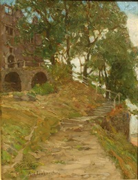 castele alt liebenstein by nicolaes van der waay