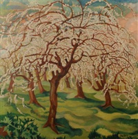blossoming trees by george rober