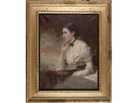 portrait of the hon. geraldine smith-barry by george elgar hicks