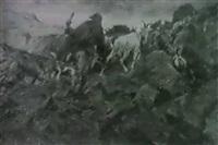 ziegenherde i. hochgebirge by alexander de laforgue