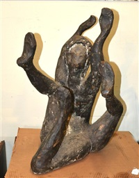 female nude with three legs by david hare
