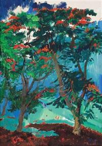 相恋的凤凰树 (phoenix tree in love) by huang li