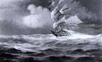 linienschiff mit doppteltem geschutzdeck in schwerer by daniele fontana