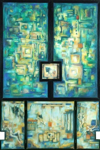 labyrinth (triptych) by heinrich volmer