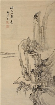 仿古山水 (calligraphy) by huang liuzi