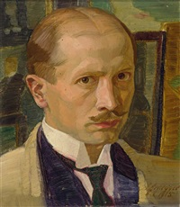 selbstportrait des malers by alwin arnegger