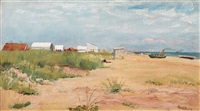 beach scene, skagen by anna kirstine ancher