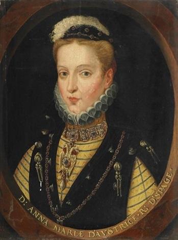 bildnis der anna von österreich und spanien 1549 1580 by frans pourbus unattributable
