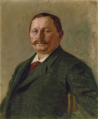 portrait des münchner fuhrunternehmers josef ebner, schwiegervater des malers by alwin arnegger