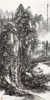 溪亭客话 (landscape) by liu hao