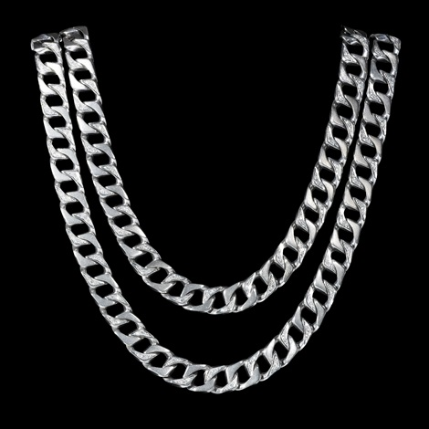 necklace, 18 k white gold