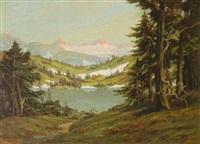 mountain lake by jean j. pfister