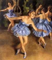 tänzerin in blau by benjamin a. strasser