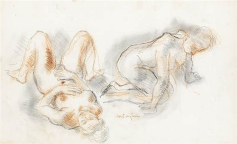 female figure study figure study 2 works by moses soyer