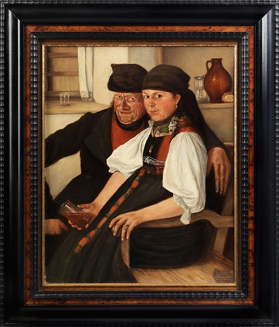 das ungleiche paar by wilhelm maria hubertus leibl