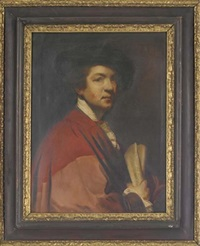 self-portrait of the artist (after sir joshua reynolds) by v. bianchini