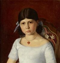 porträt eines mädchens by armand leleux