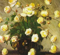 floral still life by walter alexander bailey