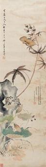 草虫花卉 by wang su